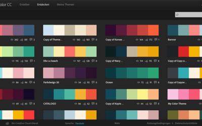 Finde die richtigen Farben für deine Webseite mit Adobe Color