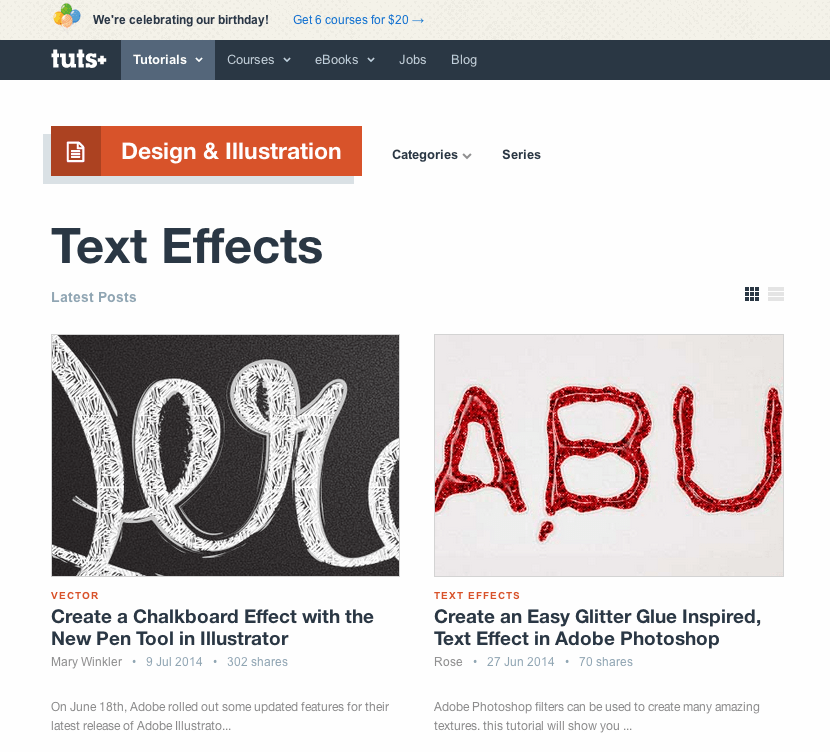 Texteffekte in Photoshop und Illustrator