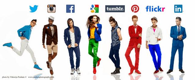 Wie würde es aussehen wenn Social Networks Menschen wären? Ein Fotoshooting…
