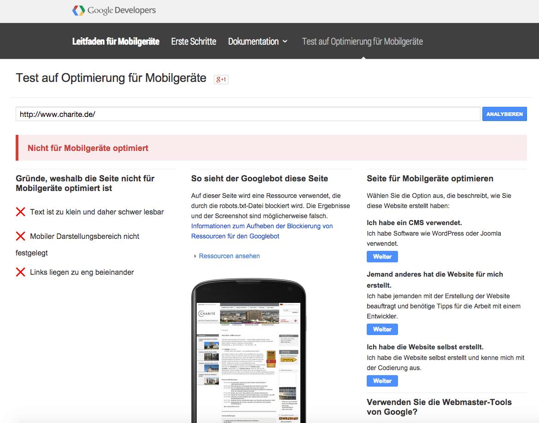 Hat deine Website schon eine mobile Version? Nein?