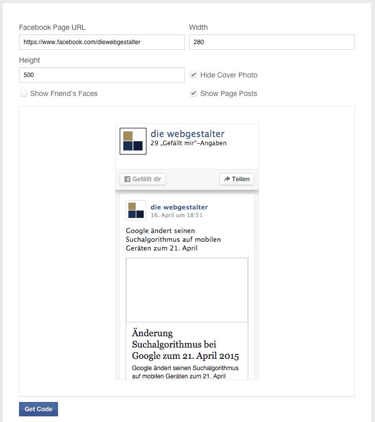 Facebook Page Plugin ersetzt die Like Box