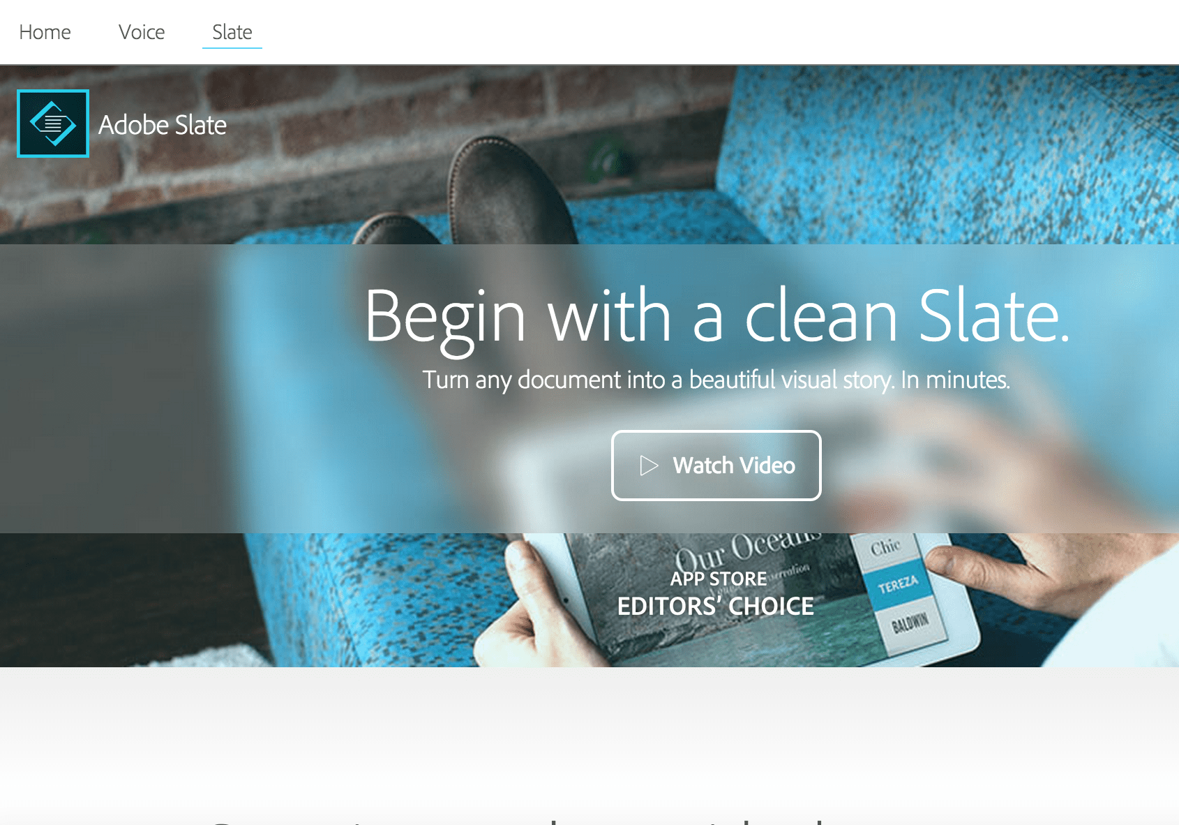 Adobe Slate für das iPad