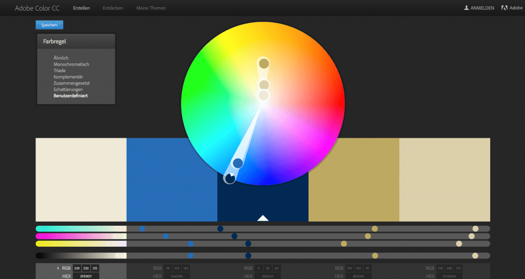 Screenshot Adobe Color