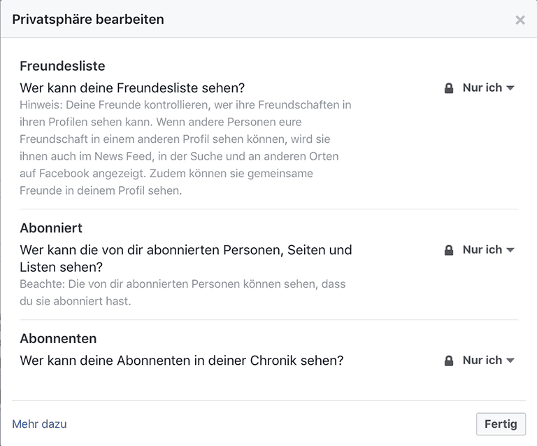 Freundesliste Facebook schließen