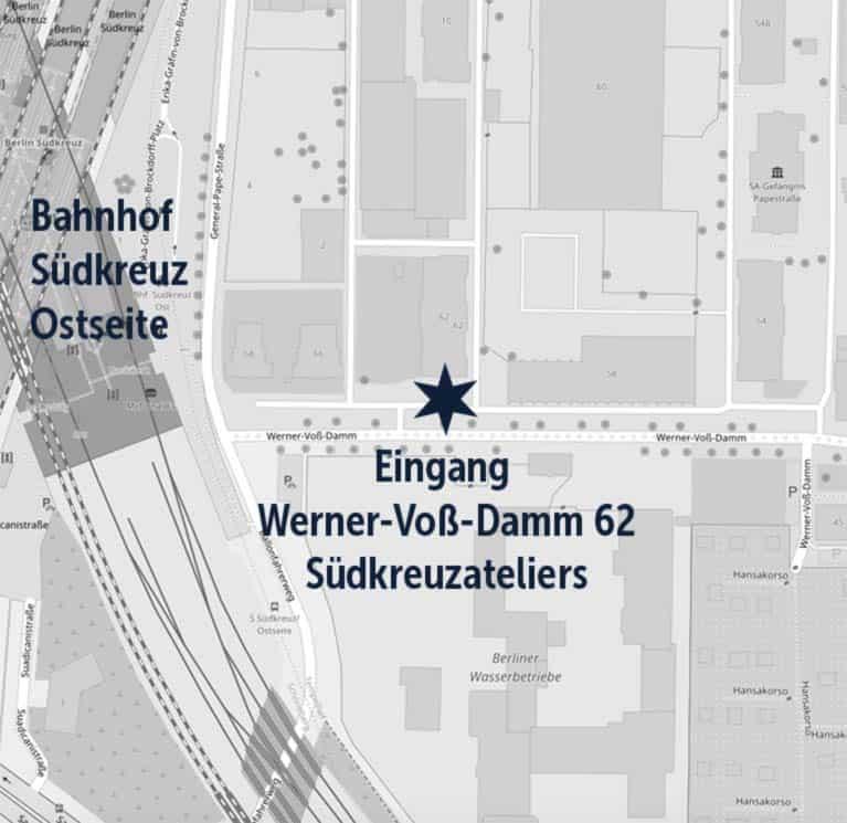 Karte und Eingang Kerstin Müller mueller macht web in den Südkreuzateliers