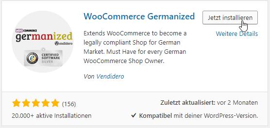 Installation Germanized Woocommerce