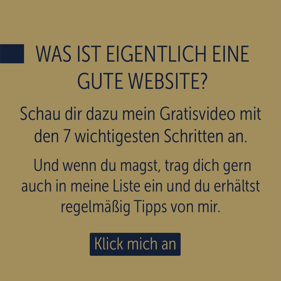 Was ist eine gute Webseite?