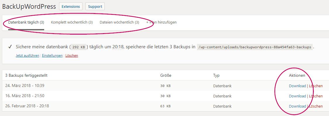 Backupwordpress Plugin Download
