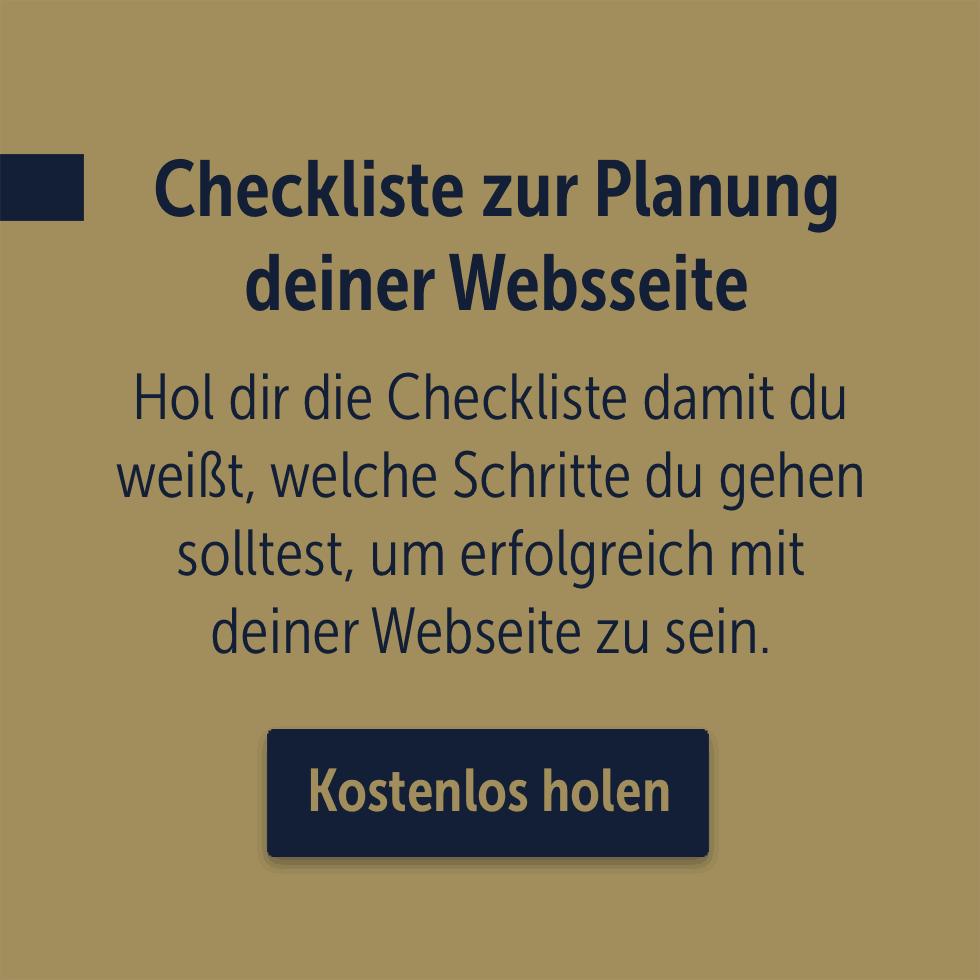 Checkliste zur Planung deiner Webseite