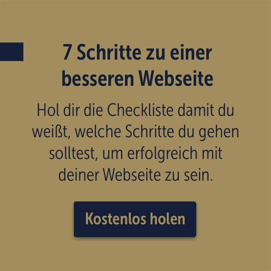 Checkliste 7 Schritte zur besseren Webseite
