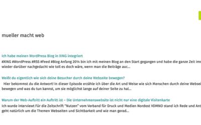 Ich habe meinen WordPress Blog in XING integriert