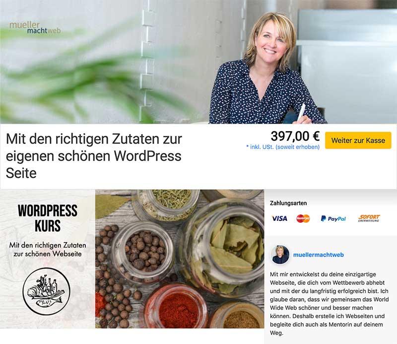 WordPress Kurs Elopage