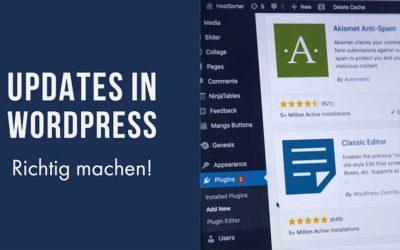 Der richtige Zeitpunkt für Updates bei WordPress