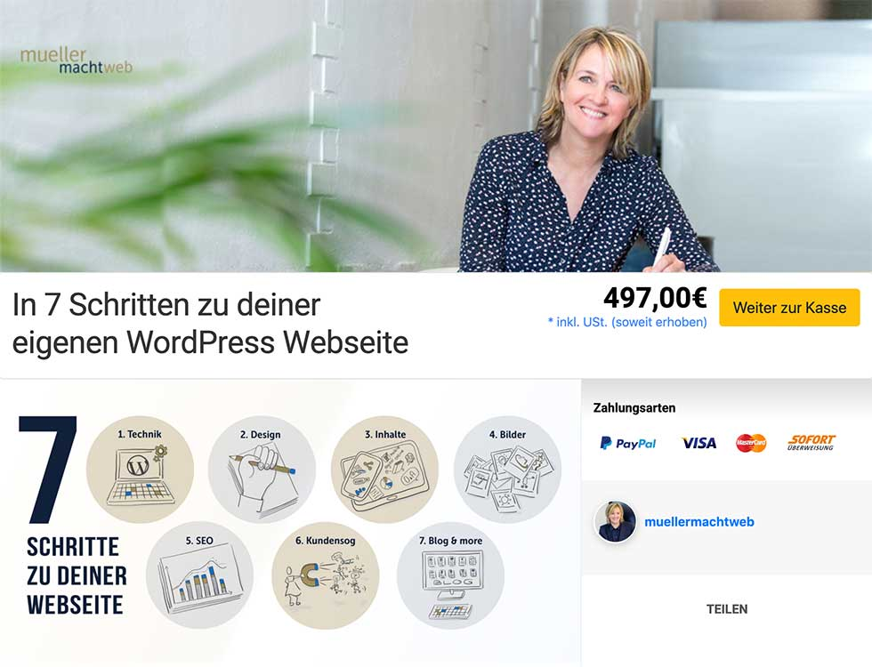WordPress Onlinekurs 497,00 EUR